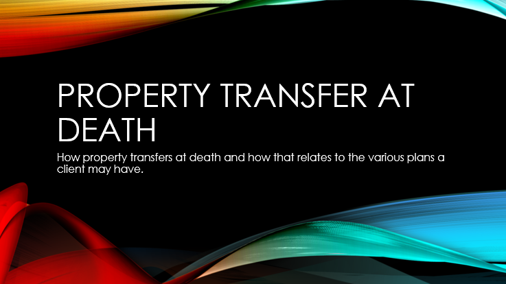 How Property Transfers at Death
